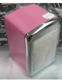 Boîte à serviettes de bar vintage, rose