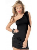 Robe courte asymétrique, noire