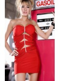 Robe courte bustier rouge