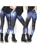 Legging cosmic galaxy 8712, tons noir et bleu