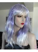 Perruque synthétique blond violet