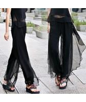 Pantalon large avec voile noir